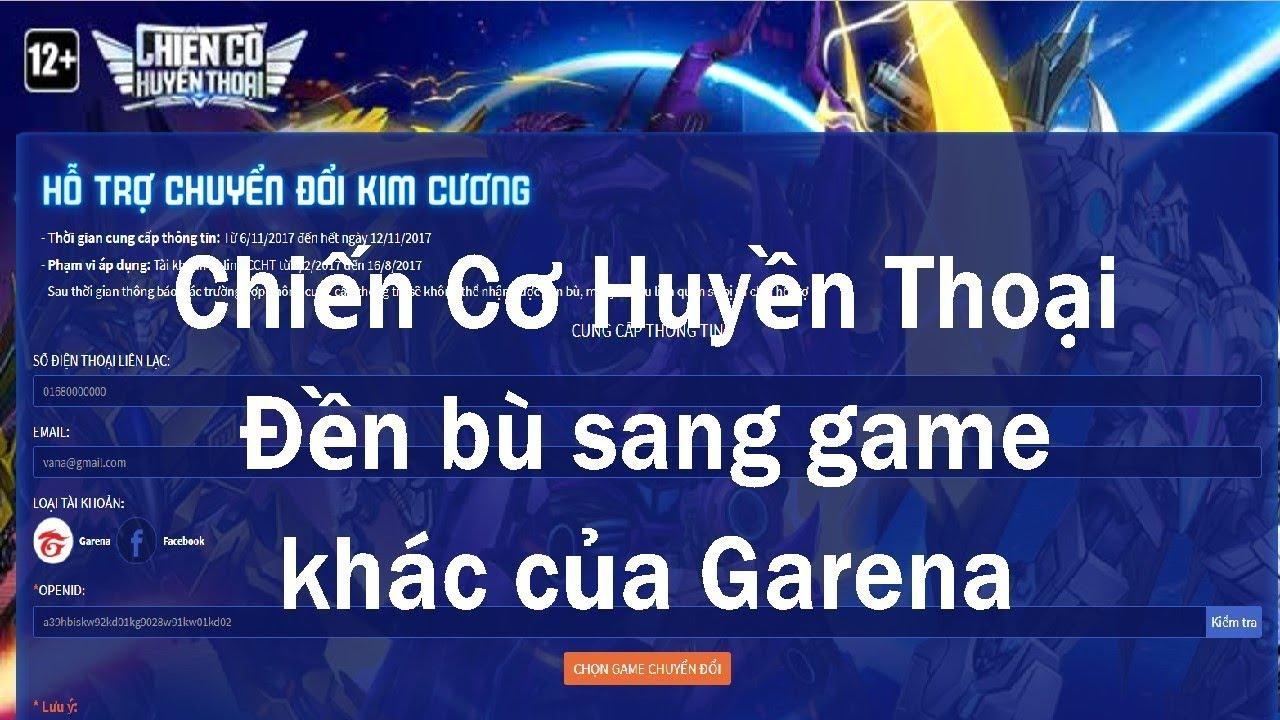 Chiến Cơ Huyền Thoại đền bù sang game khác của Garena