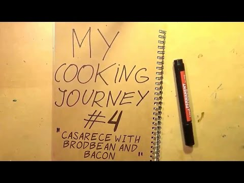 My Cooking Journey #4- Casarecce With Broad Beans And Bacon!