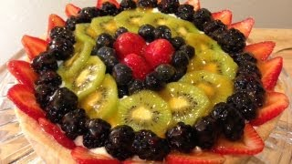 Mediterranean Fruit Tart Recipe by DedeMed!!! Mediterranean Custard filled Fruit Tart Recipe!!!