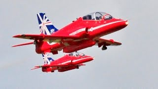 RC RED ARROWS HAWKS DUO DISPLAY TEAM - STEVE & MATT BISHOP - LMA RAF COSFORD MODEL AIRSHOW - 2015