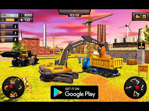 Heavy Construction Crane Driver: Excavator Games | by Virtual - Apps & Games | Android Gameplay [HD]
