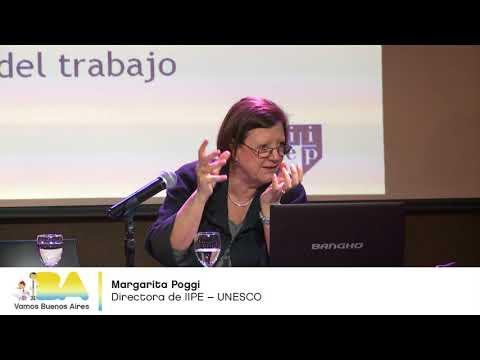 """<h3 class=""""list-group-item-title"""">Margarita Poggi - Las estrategias de la política educativa en la región - Seminario UEICEE</h3>"""