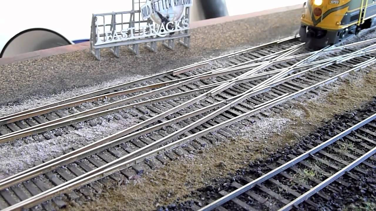 HO Scale Double Crossover YouTube