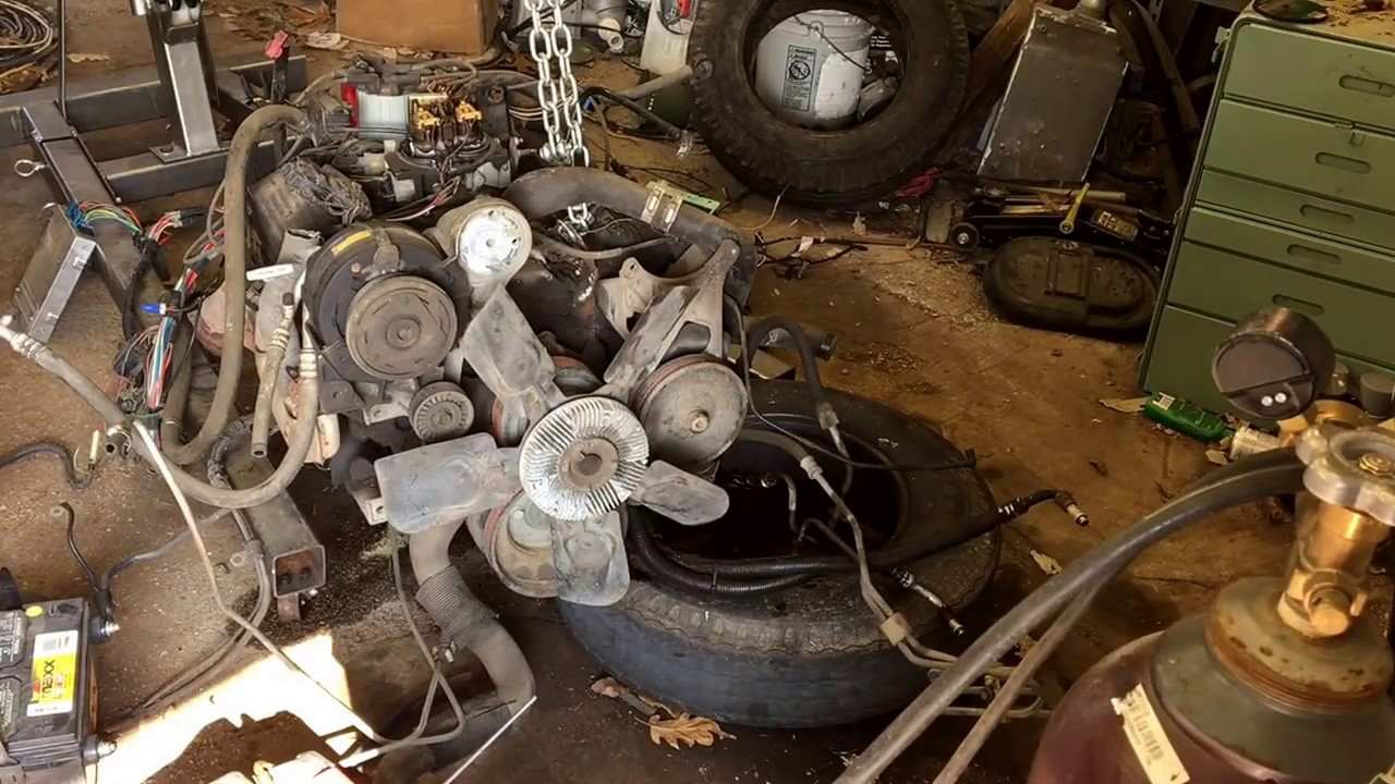 small resolution of 91 chevy 5 7 tbi ground running