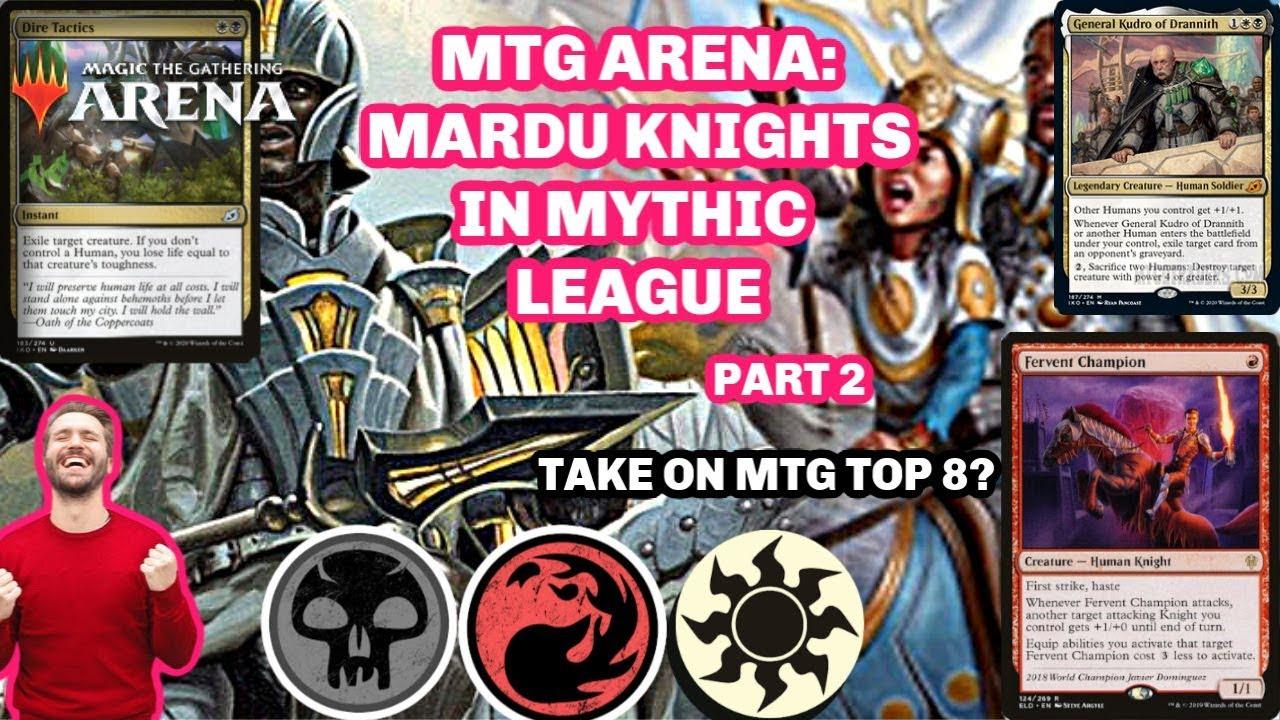 Mtg Mardu Knights Mtg Top 8 Deck Mythic League Rank Magic The Gathering Mtga 2 Youtube