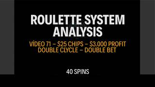 STRATEGY APPLICATION - How to win $3.000 in roulette in 1 hour - $25 Chips  - Vídeo 71