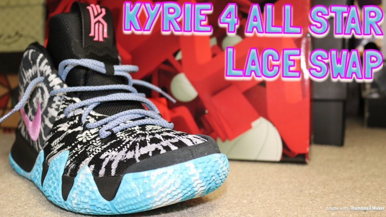 55ab72ca6c5 LACE SWAP - NIKE KYRIE 4 ALL STAR - DMG LACES - YouTube