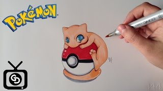 How to Draw Mew  Pokemon ( Step by Step )