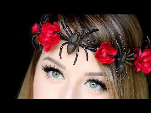 diy spider flower crown diy halloween flower crown