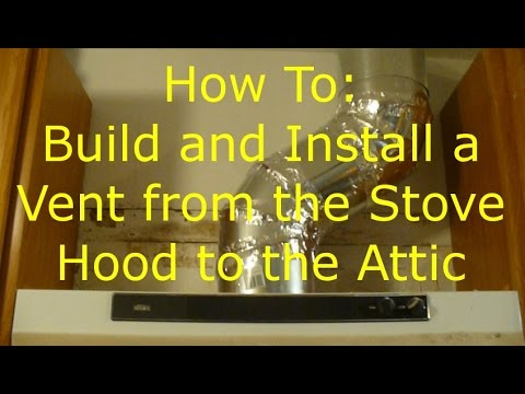 Part 3 Install A Stove Vent Into The Attic Cut The Hole