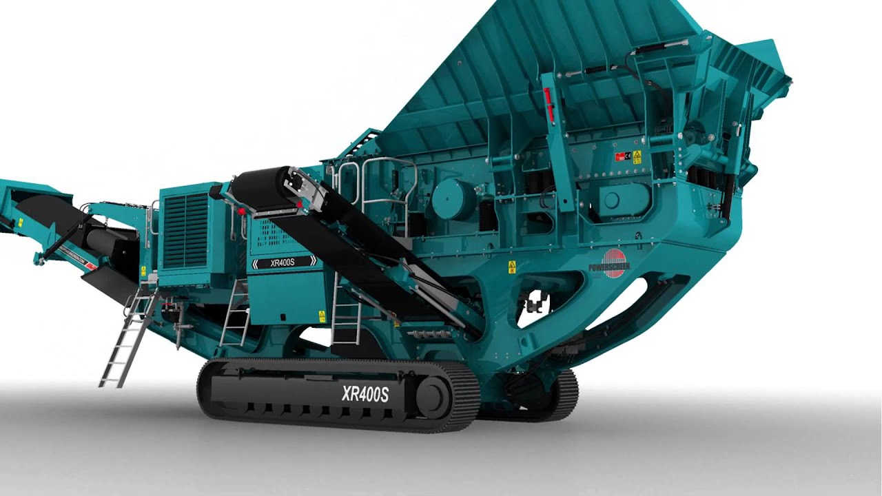 Animation - Powerscreen XR400S jaw crusher setup