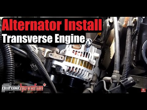 2003 mitsubishi lancer oz rally radio wiring diagram a 3 way light switch how to replace an alternator transversely mounted engine anthonyj350 youtube