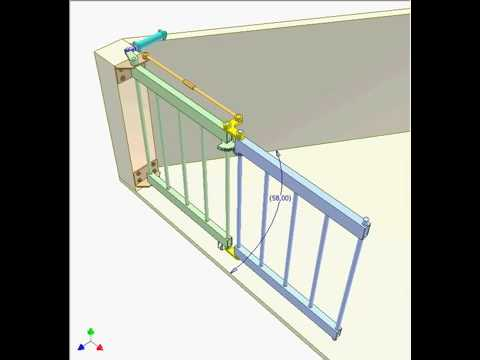 How To Make Bi Folding Gate Mechanism Youtube