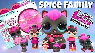 Unboxing LOL SURPRISE BIGGIE PETS WAVE 2 SPICY KITTY Eye Spy Series Wave 2 Pet Babie and Food Babies