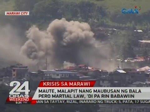 Maute, malapit nang maubusan ng bala pero Martial Law, 'di parin babawiin