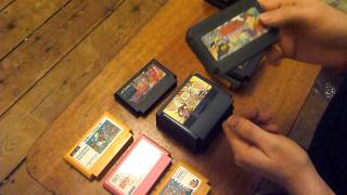 Japanese Import Nintendo Famicom Games Unboxing - UK Video Games Collecting