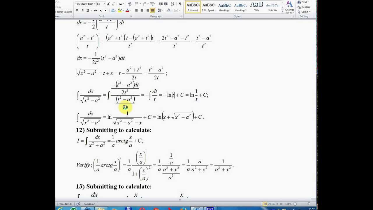 Lesson 1- Math Analysis -Integrals defined and undefined -Volume 2 ...