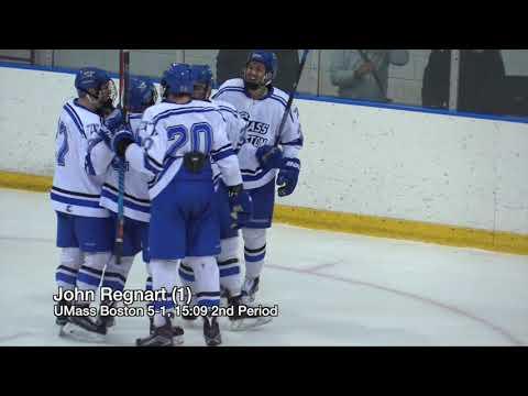 UMass Boston Men's Hockey vs. Castleton University (1/26/18) Highlights