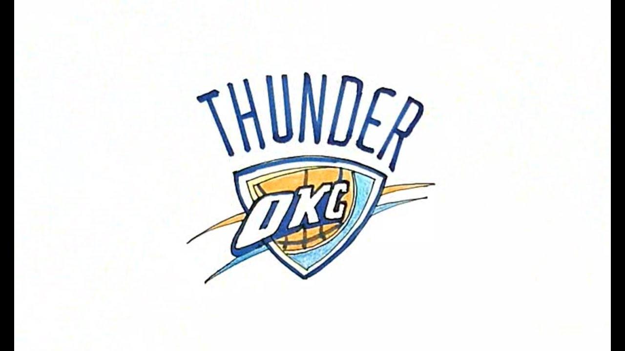 How to Draw the OKC Thunder Logo - YouTube