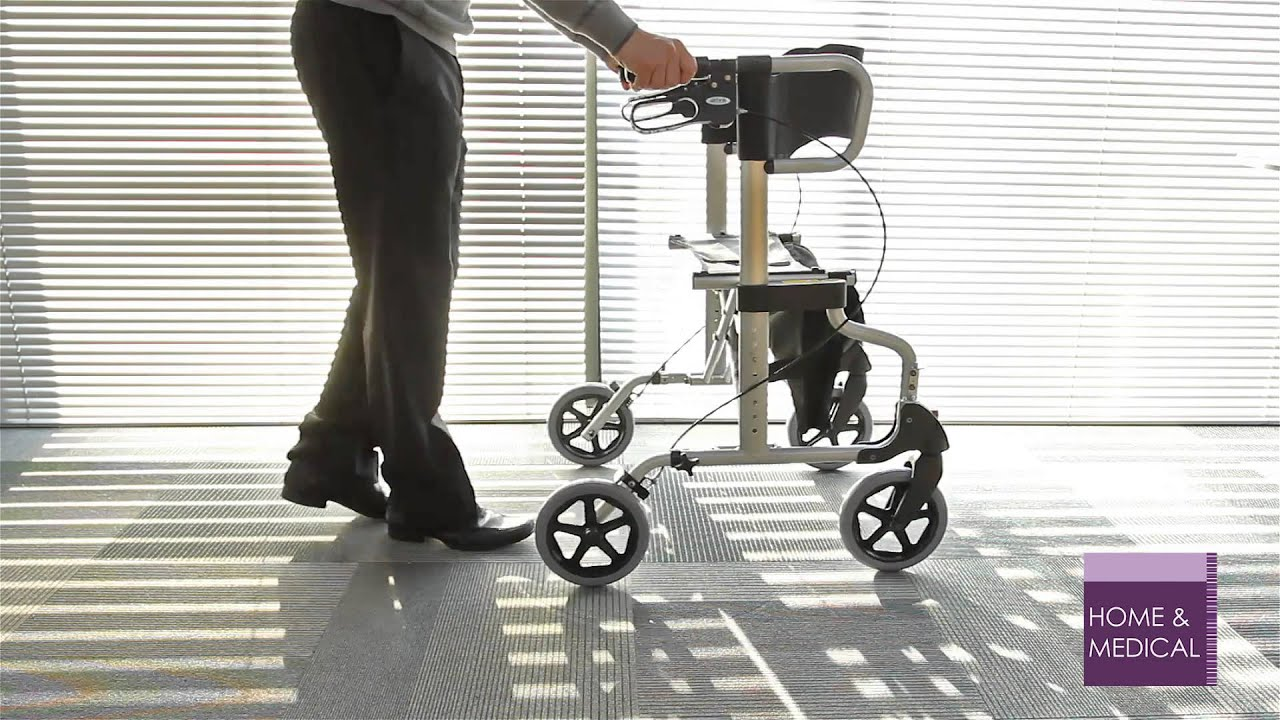 Diamond Deluxe Rollator and Transport Chair - YouTube