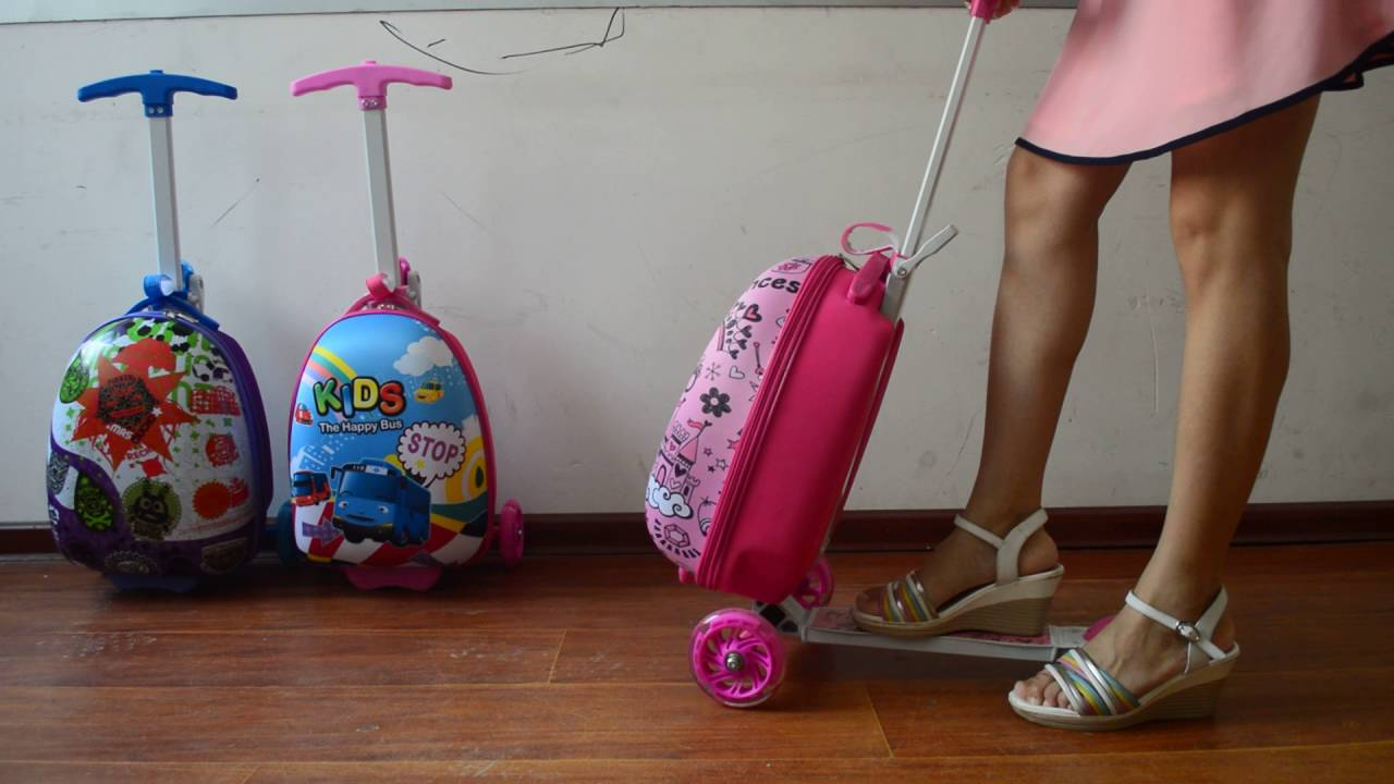 ZZMERCK Kids Scooter Luggage - YouTube