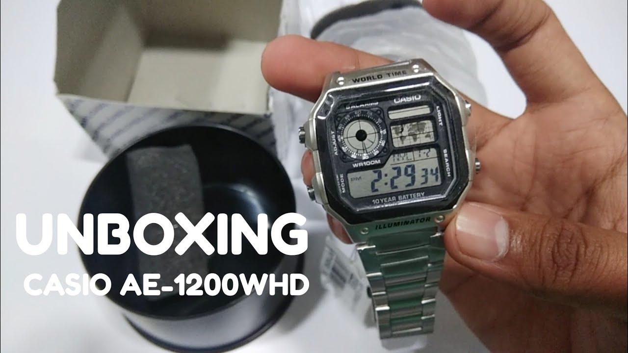 Jam tangan CASIO AE-1200WHD Original - YouTube 11b177983f