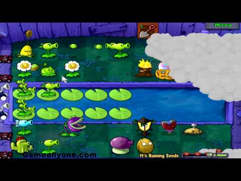 Plants V. Zombies [HD] [4] [Minigame] - Its Raining Seeds