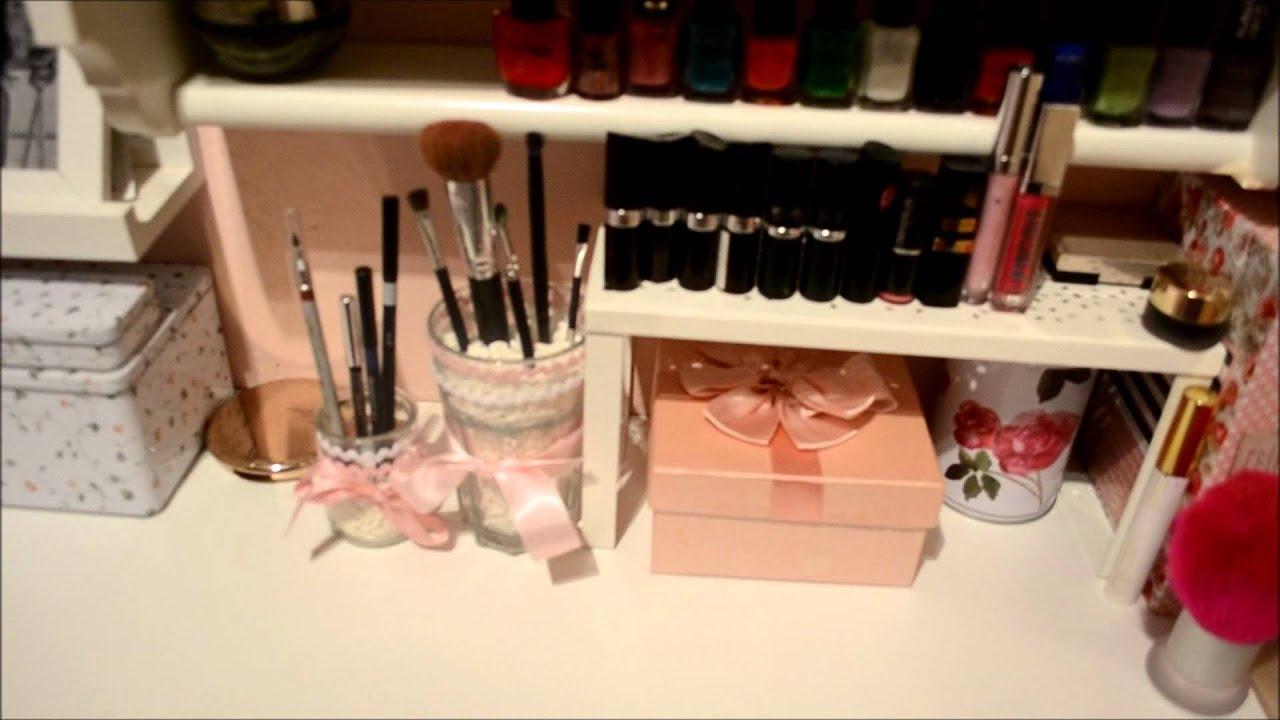 Diy tocador organizador maquillaje ikea youtube - Ideas para hacer un tocador ...