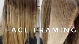 Face Framing Highlights into a Color Melt