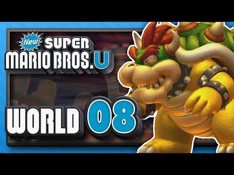 New Super Mario Bros. U Part 8 - World 8: Peach's Castle! (4 Player)