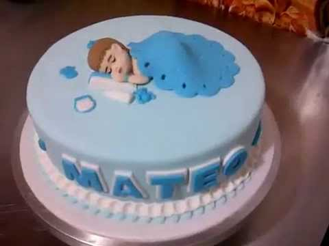 Torta De Baby Shower Con Bebe Comestible