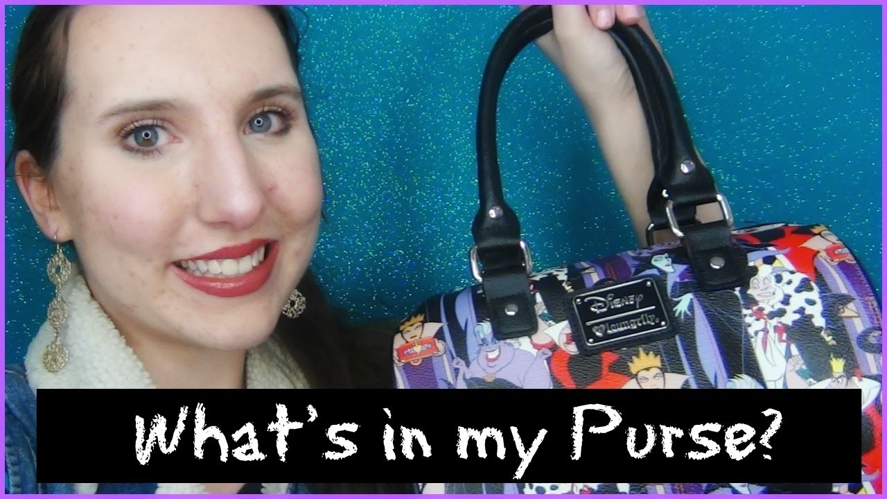 e6d36f7da What's in my Loungefly Disney Purse? My Disney Villain Bag 2017 ...