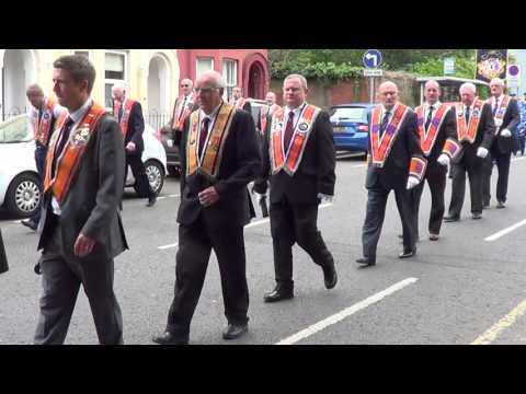 Lisburn District No 6. Annual Orange Service to Christ Church 9/7/2017