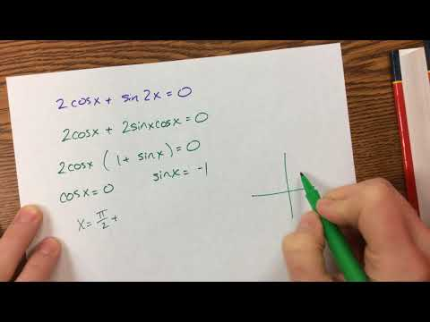Solving Trig Equations (using double angle identities)