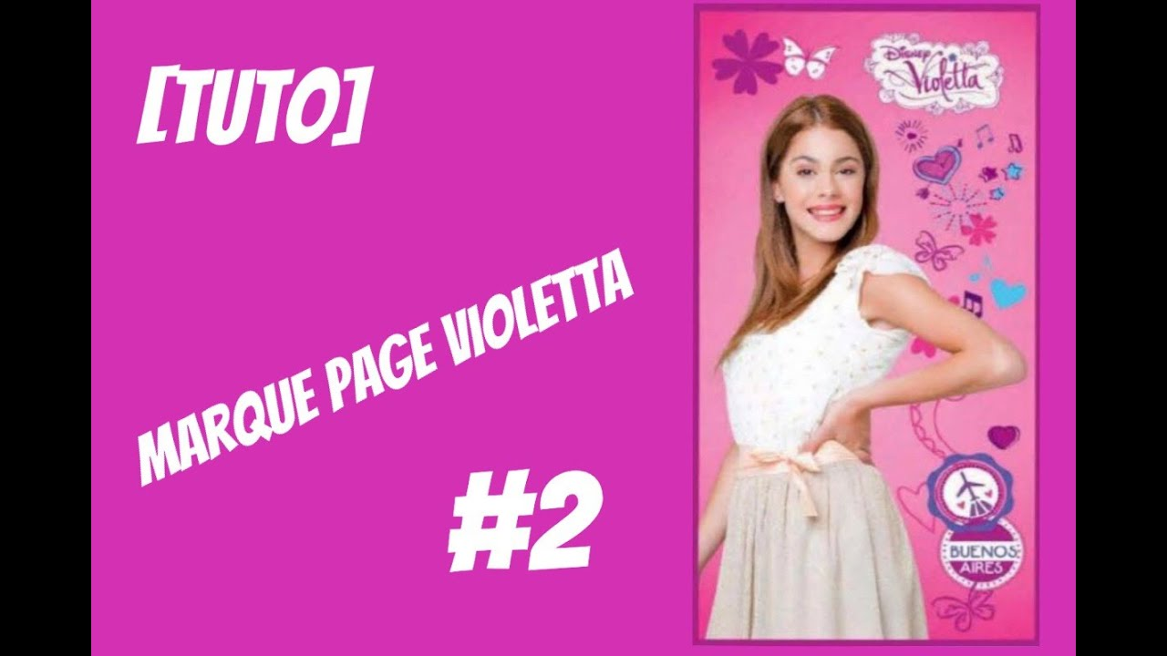 tuto comment cr er un marque page violetta 2 youtube. Black Bedroom Furniture Sets. Home Design Ideas