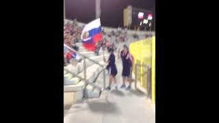 Матч Россия-Сербия и болельщики