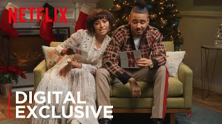 Kat Graham & Quincy Brown: Crazy Christmas Carol Reading | The Holiday Calendar | Netflix