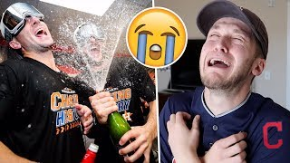 SAD Cleveland Indians Fan Reacts to Getting SWEPT by Houston Astros in 2018 MLB Postseason!