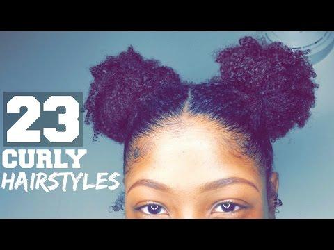 23 Curly Hairstyles | SHORT/ MEDIUM Length | Natural Hair