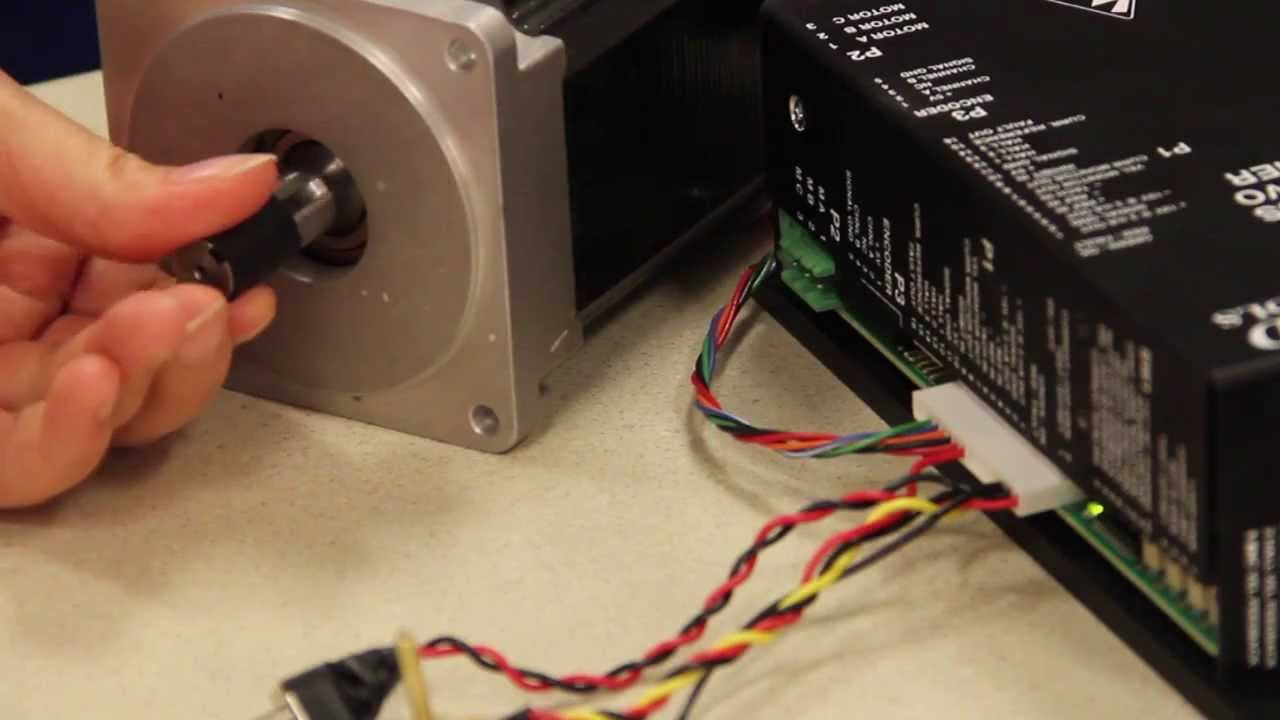Manual Commutation Of A Motor With A Brushless Servo Drive