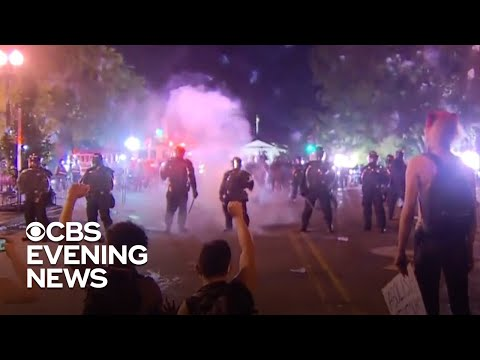 Police and protesters clash amid unrest across America from YouTube · Duration:  4 minutes 18 seconds