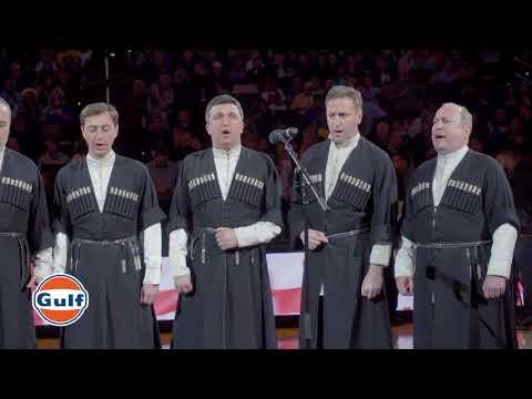 """Ensemble Shvidkatsa On Oracle Arena """"შვიდკაცა"""" - ეროვნული ჰიმნი, სვანური ფერხული & მრავალჟამიერი"""