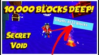 DIGGING 10,000 BLOCKS DEEP! - SECRET VOID - Roblox | Treasure Hunt Simulator