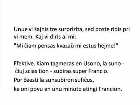 O pequeno príncipe - Cap. 6 (Esperanto)