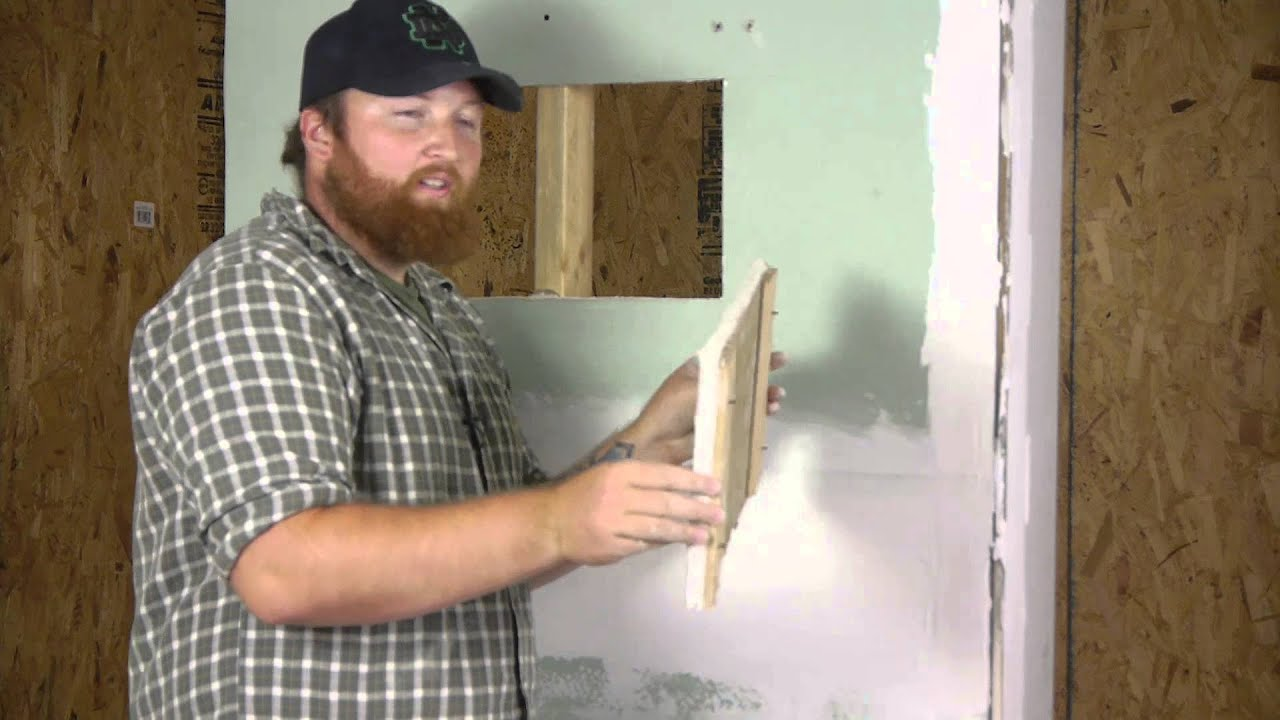 How to build drywall wood trim access panels repairing How to disguise wood paneling