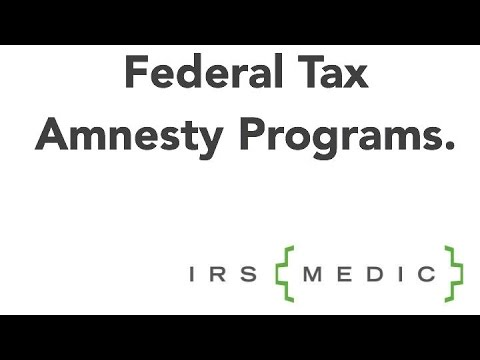 Federal Tax Amnesty Programs - September 2015 Review