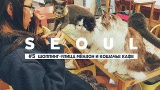 РАЙ ДЛЯ ШОППИНГА В СЕУЛЕ УЛИЦА МЁНДОН и КАФЕ С КОШКАМИ CATS CAFE SEOUL, ЮЖНАЯ КОРЕЯ ВИДЕО-БЛОГ #5