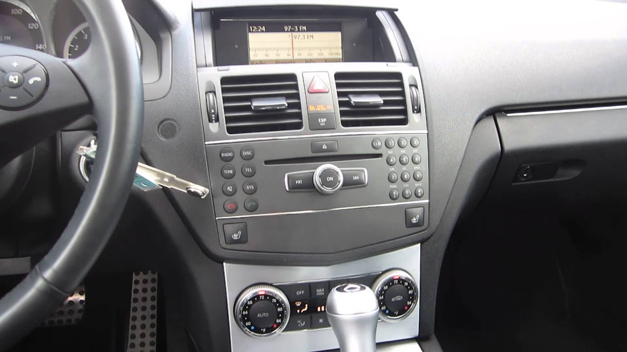 small resolution of 2010 mercedes benz c class white stock 132073b interior