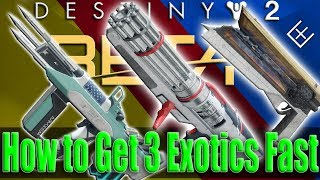 Destiny 2 How to Get 3 Exotics Fast, The Risk Runner, Sun Shot and Sweet Business