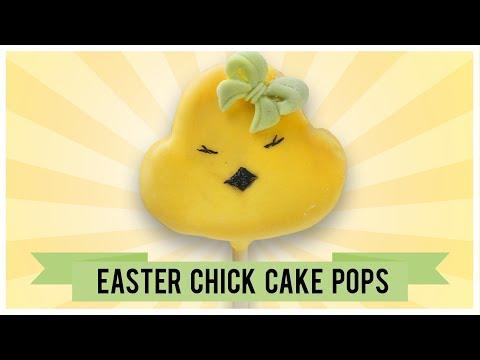 EASTER CHICK CAKE POPS I Easy to make Easter Chick Cake Pops I Easter Set